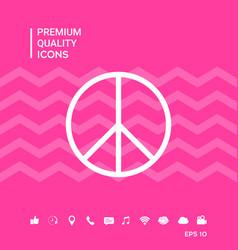 Peace sign symbol vector