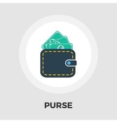 Purse icon flat vector