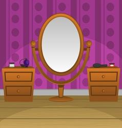 Retro mirror vector