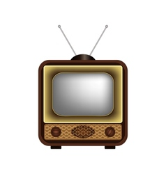 Retro TV on a white background vector image vector image