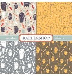 Seamless patterns barbershop vector image