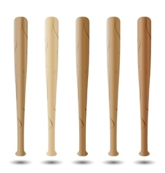 Set of baseball bats vector