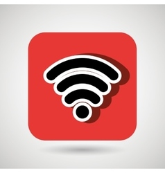 wifi signal square button isolated icon design vector image vector image