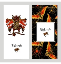 Witchcraft magic banner set vector