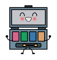 women make up case cute kawaii cartoon vector image vector image