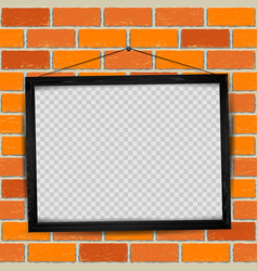 wood frame red old brick vector image vector image