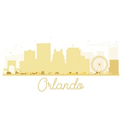 Orlando city skyline golden silhouette vector
