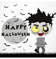 Halloween crazy guy vector