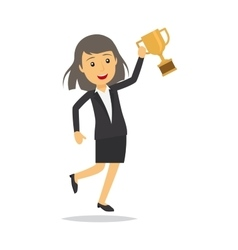 Businesswoman with top honour character vector