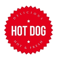 Hot dog vintage label vector