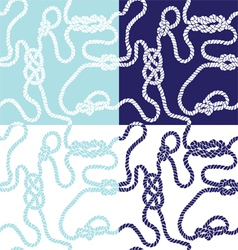 Seamless background with marine knots vector