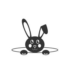 Easter bunny icon vector