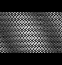 metal perforated background round holes vector image