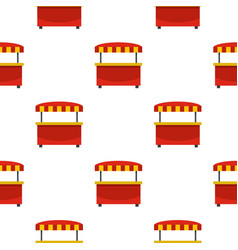 Store kiosk with red and yellow awning pattern vector