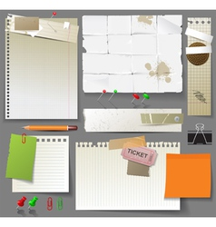 Paper design elements vector