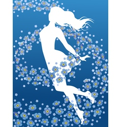 Forget-me-not flowers vector