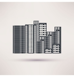Residential complex icon in a flat style vector