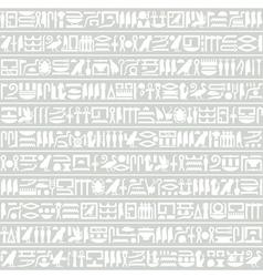Egyptian hieroglyphic decorative horizontal vector