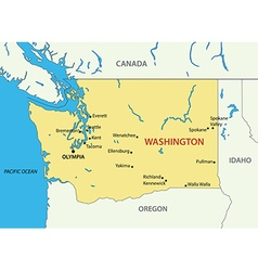 Washington state - map vector