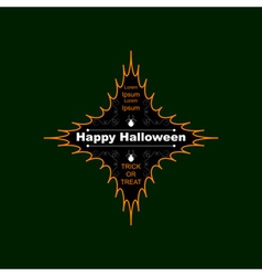 Halloween logo four-pointed star vector