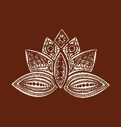 Henna lotus art Henna Lotus Mehndi vector image