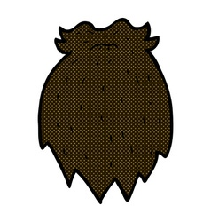Comic cartoon fake beard vector
