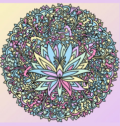 Abstract mandala ornament asian pattern with vector