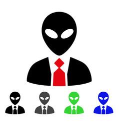 Alien boss flat icon vector
