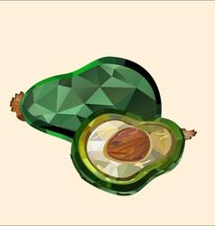 avocado polygon vector image vector image