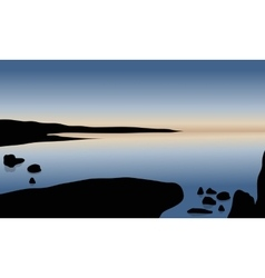 Beautiful at sunrise in beach vector image vector image