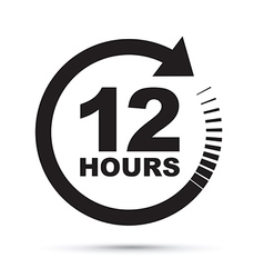 black 12 hours vector image vector image