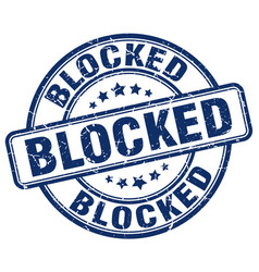 Blocked blue grunge stamp vector