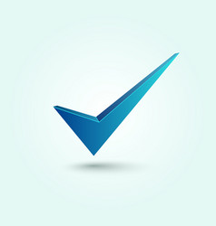 Blue check mark symbol vector image
