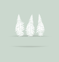fern silhouette card vector image vector image
