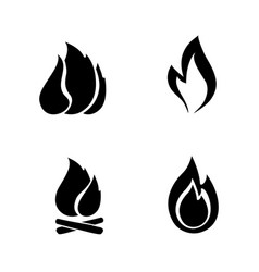 fire icon isolated vector image vector image