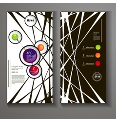 flyer with elements of infographics vector image