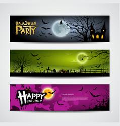 Halloween day banner vector image