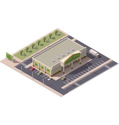 isometric shopping mall vector image vector image