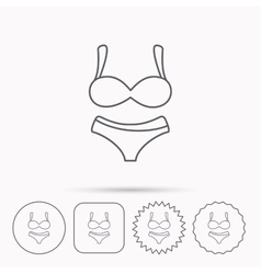 Lingerie icon Women underwear sign vector image