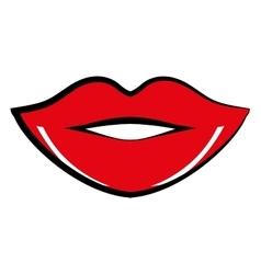 lips comic pop art vector image