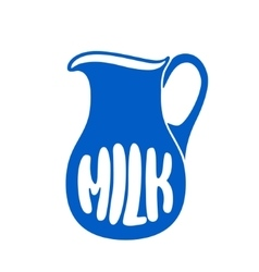 Milk jug or pitcher logo vector image vector image
