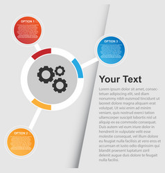 Multi option infographic background image vector