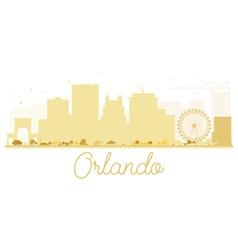 Orlando city skyline golden silhouette vector