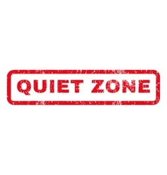 Quiet zone rubber stamp vector