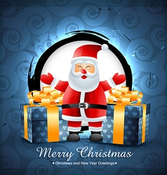 santa clais with gifts vector image vector image