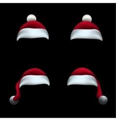 Santa hat black background vector