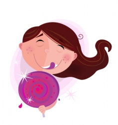 small child with lollipop vector image