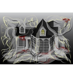 spooky house vector image vector image