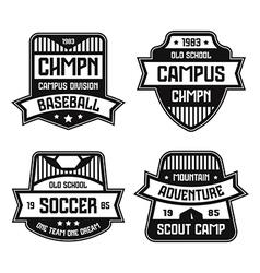 Sport badges graphic design for t shirt vector