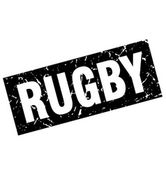 Square grunge black rugby stamp vector